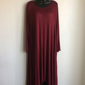 Red Dress Hi Low Long Sleeve XXL Amelia Martin